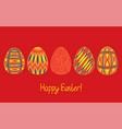 happy easter egg sketch collection in bright vector image vector image