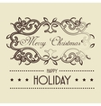 happy merry christmas frame vector image