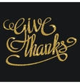 Happy thanksgiving day greeting card with hand vector image vector image