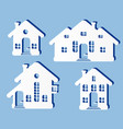 house home exterior set in flat vector image
