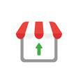 icon concept of shop store with arrow moving up vector image vector image