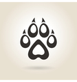 Icon Dog Trail vector image
