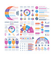 infographic template financial investment graphs vector image vector image