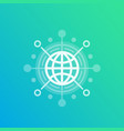 international business trade global market icon vector image