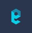 Letter E technology logo icon design template vector image vector image