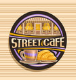 logo for street cafe vector image vector image