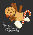 merry christmas traditional cookies and biscuits vector image vector image