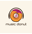 music donut concept design template vector image