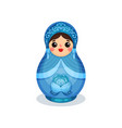 nesting doll russian wooden matryoshka with gzhel vector image vector image