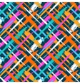 Pattern with diagonal stripes and crosses vector image vector image
