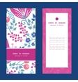 pink flowers vertical frame pattern vector image vector image
