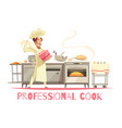 professional cook composition vector image vector image