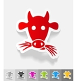 realistic design element muzzle cow vector image