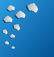 set cut out paper clouds speech bubb vector image vector image