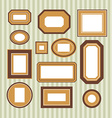 Set of colored frames vector image