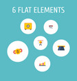 set of finance icons flat style symbols with money vector image vector image