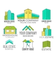 Set of house logo designs real estate icon vector image vector image