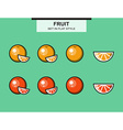 Set of oranges and grapefruits vector image vector image