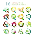 Set of swirl web design infographic bubbles vector image