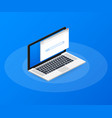 simple browser window on laptop on blue vector image