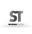 st s t lines letter design with creative elegant vector image vector image