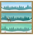Three winter landscape banners Winter backround vector image vector image