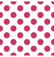tile pattern with big pink polka dots on white vector image vector image