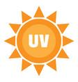 uv sun logo flat style vector image