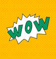 Wow Comics pop art style blank layout template vector image vector image