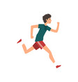 young sportive man running active healthy vector image vector image