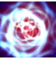 Abstract space with blue and red circle vector image
