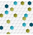 Abstract geometric background with hexagons vector image