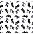 motorcycle pattern vector image