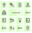 14 password icons vector image vector image