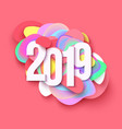 2019 colorful holiday background cut paper style