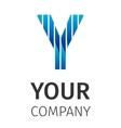 Abstract blue logo Y vector image vector image