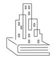 architecture book education icon metropolis vector image