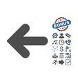 Arrow Left Flat Icon With Bonus vector image vector image