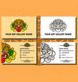 art gallery business card vector image vector image
