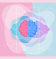 artificial intelligence concept trendy linear vector image vector image