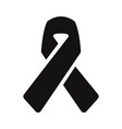 awareness ribbon icon vector image