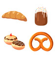 bakery icon set cartoon style vector image vector image