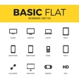 Basic set of Device screen icons vector image vector image