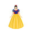 beautiful princess of fairy tale kingdom wearing vector image