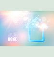blue liquid gel in form house with earth globe vector image vector image