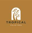 bohemian palm tree niche door logo icon vector image vector image