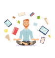 business yoga concept office zen relax vector image