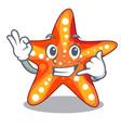 call me underwater sea in the starfish mascot vector image vector image