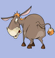 cartoon funny character puzzled donkey looking vector image