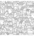cartoon town seamless pattern small old houses vector image
